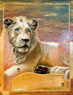 Untitled Painting 2005 26x32 Original Painting - Juergen Aldag