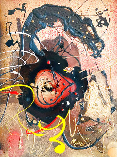 Untitled Set of 4 Paintings 1997 34x28 Original Painting - Juergen Aldag