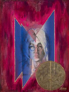 John Lennon (Beatles) 40x30 Original Painting - Juergen Aldag