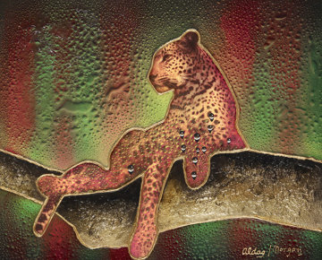 Leopard 30x36 Original Painting - Juergen Aldag