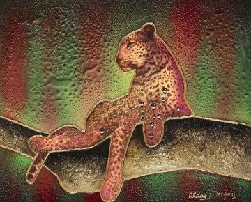Leopard 30x36 Original Painting by Juergen Aldag