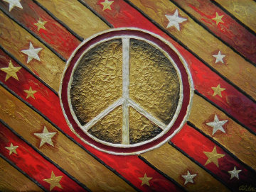 Peace Is Golden Original Painting by Juergen Aldag