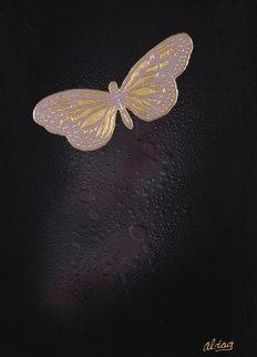 Butterfly 40x30 Huge Original Painting - Juergen Aldag