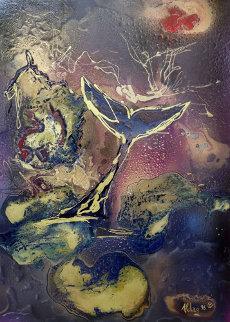 Fantasy Tale 1996 39x31 Original Painting - Juergen Aldag