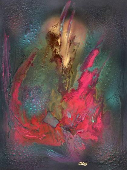 Defingmus 40x30 Original Painting by Juergen Aldag