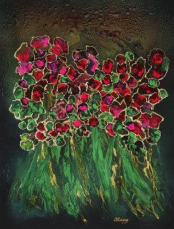 Garden 2000 40x30 Original Painting - Juergen Aldag