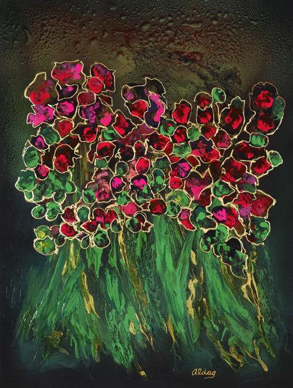Garden 2000 40x30 Original Painting by Juergen Aldag