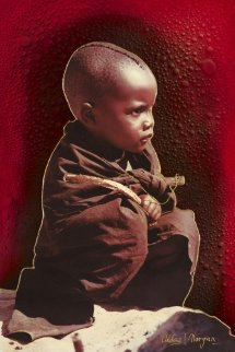 African Innocence 36x24 Original Painting by Juergen Aldag