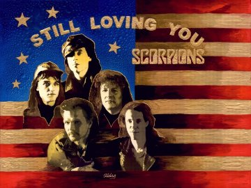 Still Loving You (Scorpions) 36x48 Original Painting - Juergen Aldag