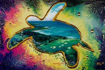 Turtle Bay Golf Resort 24x36 Original Painting by Juergen Aldag