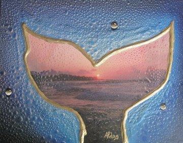 Whale Tale, Maui 16x20 Works on Paper (not prints) - Juergen Aldag