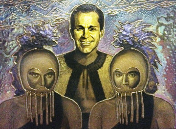 Three Men 24x36 Original Painting by Juergen Aldag