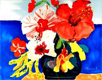 Three Hibiscus 1991 Limited Edition Print - Alexandre Minguet