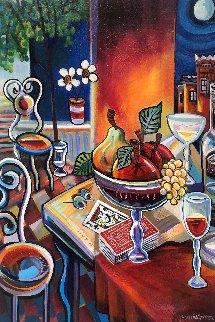 Poker Night 36x24 Original Painting - Jason Alexander