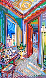 Late Night 24x15 Original Painting - Jason Alexander