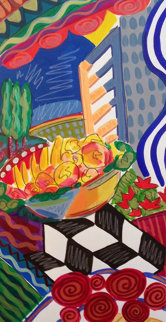 Fruits And Flowers 1993 39x26 Original Painting by Jason Alexander