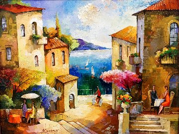 Untitled Original Painting 33x33 Original Painting - Alex Grinshpun
