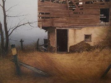 Last Days of Fall 1997 38x48 Original Painting - Alexander Volkov