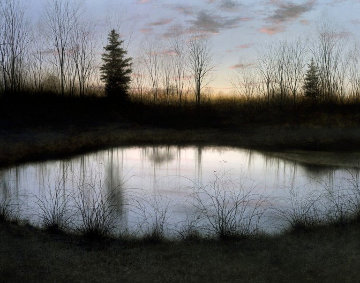 Night Pond 2002 Limited Edition Print - Alexander Volkov