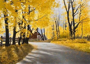 Autumn Wind AP Embellished 2008 Limited Edition Print by Alexander Volkov