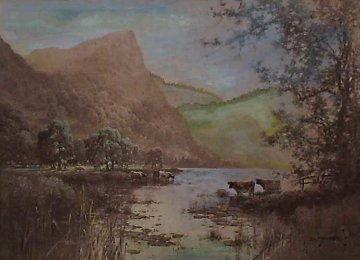 On Derwentwater 1916 Limited Edition Print - Alfred de Breanski
