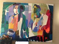 Rehearsal 1995 60x78 Super Huge Original Painting by Ali Golkar - 1