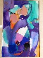 Woman With Violin 2010 48x35 Super Huge Original Painting by Ali Golkar - 1