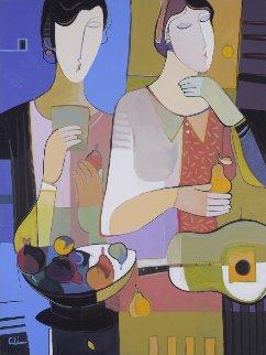 Embracing the Moments 50x38 Original Painting - Ali Golkar