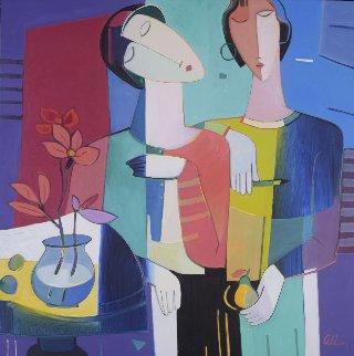 Perfect Pair 49x49 Original Painting - Ali Golkar
