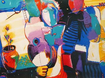 Ode to Music 1990 46x35 Huge  Limited Edition Print - Ali Golkar