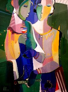 Untitled Painting 54x44 Super Huge Original Painting - Ali Golkar