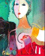 Untitled Portrait 10x8 Original Painting by Ali Golkar - 0
