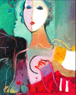 Untitled Portrait 10x8 Original Painting - Ali Golkar