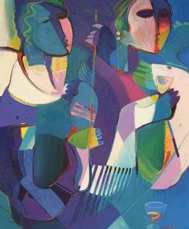 Untitled Original 1995  Original Painting - Ali Golkar