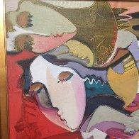 Untitled Painting 2000 46x46  Original Painting by Ali Golkar - 2