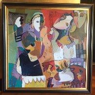 Untitled Painting 2000 46x46  Original Painting by Ali Golkar - 1