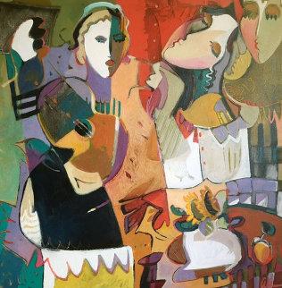Untitled Painting 2000 46x46 Original Painting - Ali Golkar