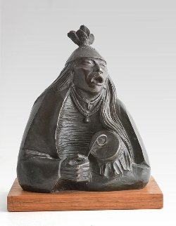 War Song Bronze Sculpture 1987 12 in Sculpture - Allan Houser
