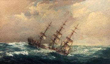 Clipper Ship Hawkesbury 1937 28x39 Original Painting - John Allcott