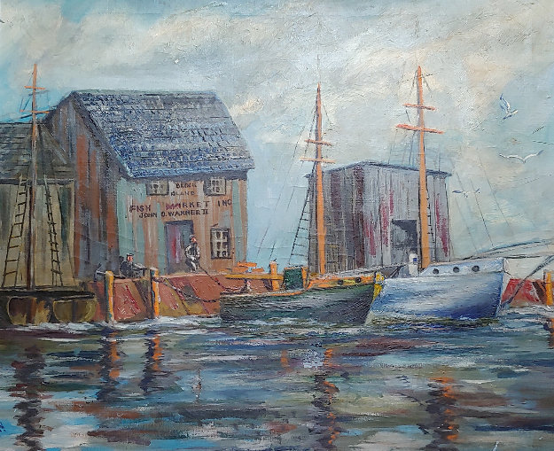 Untitled (Wharf) 29x34 by Charles Curtis Allen