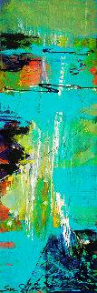 Harbor Lights 2018 12x36 Original Painting - Su Allen