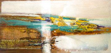 Panning Gold 29x60 Original Painting - Su Allen
