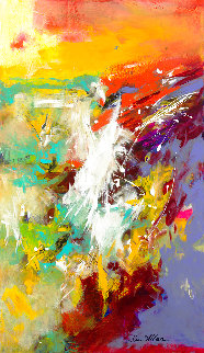 Splash 40x30 Original Painting - Su Allen