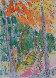 Garden of Eden Watercolor 1984 7x5 Watercolor by Carlos Almaraz - 0