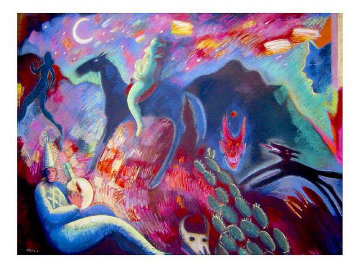 Southwest Song 1988 35x48 Limited Edition Print by Carlos Almaraz