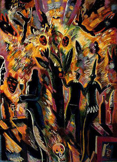 Tree of Life 1989 45x38 Huge Limited Edition Print - Carlos Almaraz