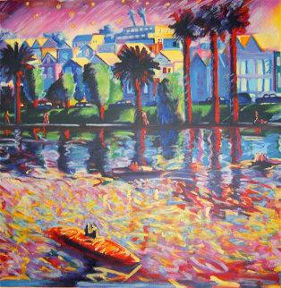 Echo Park 3 AP 1990 41x41 Limited Edition Print - Carlos Almaraz