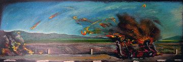 West Coast Crash AP 1990 19x55 Limited Edition Print by Carlos Almaraz