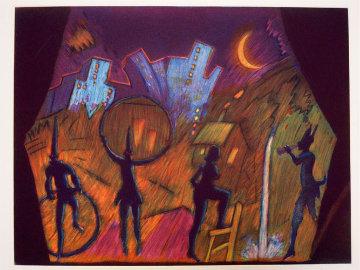 Moonlight Theater AP 1989 Limited Edition Print by Carlos Almaraz