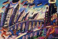 Growing City 1988 36x48 Super Huge Limited Edition Print by Carlos Almaraz - 0